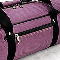 IV.70Cm Soft Nylon Carrier Bag(White Inside)# Grape Purple
