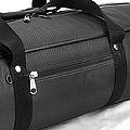 IV.70Cm Soft Nylon Carrier Bag(White Inside)# Black