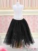 280.【PS-04】Blythe/Pullip Long Tulle Ball Skirt(Dot)# Black