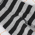 【BP-114】Blythe Pantyhose # Stripe Black+Grey
