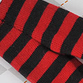 【BP-125】Blythe Pantyhose Socks # Stripe Black+Red