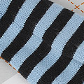 【BP-127】Blythe Pantyhose Socks # Stripe Black+Water Blue