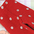 Blythe Pantyhose ( BP-49N ) Red+Silver Dot