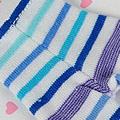 【BP-06N】Blythe Pantyhose Socks # Stripe Mix Blue