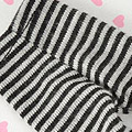 【BP-146】Blythe Pantyhose Socks # Thin Stripe Black+Grey