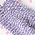 【BP-147】Blythe Pantyhose Socks # Thin Stripe Purple+Grey