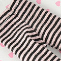 【BP-148】Blythe Pantyhose Socks # Thin Stripe Black+Pink