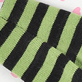 【BP-84N】Blythe Pantyhose Socks # Stripe Black+Green