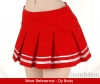 【Das-18】SD/DD Accordion Mini Short Skirt # Red