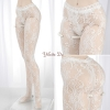 H93.【DDP-03】DD/DY Pantyhose # Rose Net - White