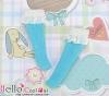 【KS-D03】(Blythe/Lati Yellow)Lace Top Below Knee Socks # Blue
