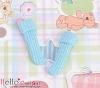 【KR-15】B/P Bobby Socks # Water Blue