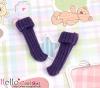 【KR-9】B/P Bobby Socks # Dark Violet Blue