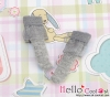 【KS-A18】(B/P) Lace Top Ankle Socks # Grey