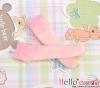 【KS-C09】(B/P) Lace Top Below Knee Socks # Pink