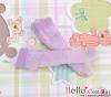 【KS-C11】(B/P) Lace Top Below Knee Socks # Purple