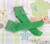 【KS-C13】(B/P) Lace Top Below Knee Socks # Green
