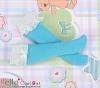 【KS-C05】(B/P) Lace Top Below Knee Socks # Blue