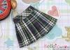 28.【PE-01N】Blythe/Pullip Accordion Mini Short Skirt # Stripe Deep Blue