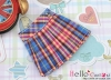 【KS-S10】(B/P) Short Socks # Thin Stripe Pink + White