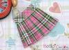 38.【PE-03】Blythe/Pullip Accordion Mini Short Skirt # Stripe Pink