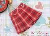 35.【PE-04】Blythe/Pullip Accordion Mini Short Skirt # Stripe Red