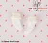 【KS-A03】B/P Lace Top Ankle Socks # White
