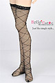 【LL-29】SD/DOT Thigh-High Doll Stockings # Stripe Deep Pink