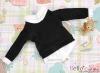 159.【NE-1】B/P Long Sleeve Layered Look Top # Black