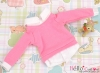 162.【NE-3】B/P Long Sleeve Layered Look Top # Deep Pink