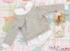 164.【NE-4】B/P Long Sleeve Layered Look Top # Grey