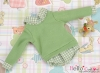 213.【NE-5】B/P Long Sleeve Layered Look Top # Green