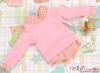 390.【NE-9】B/P Long Sleeve Layered Look Top # Pink
