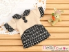 01.【NF-01】Blythe/Pullip Flat Collar T-Shirts # Dot/Cocoa+Black