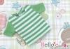08.Blythe/Pullip T-Shirt ( NS-04N ) Stripe Green