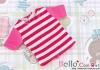 17.Blythe/Pullip T-Shirt ( NS-08N ) Stripe Deep Pink