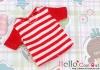 84.Blythe/Pullip T-Shirt ( NS-11N ) Stripe Red