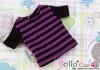 95.Blythe/Pullip T-Shirt ( NS-13N ) Stripe Purple