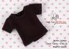 26.【NS-26】Blythe/Pullip short sleeve T-shirt(crew neck)# Black