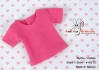 27.【NS-27】Blythe/Pullip short sleeve T-shirt(crew neck)# Deep Pink