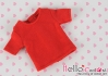 69.【NS-46】Blythe/Pullip short sleeve T-shirt(crew neck)# Red