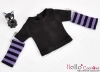 346.【NT-15】Blythe Pullip(Separate Sleeves)Tee # BK/Purple