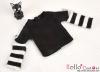 392.【NT-21】Blythe Pullip(Separate Sleeves)Tee # BK/White