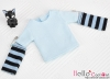 363.【NT-4】Blythe Pullip(Separate Sleeves)Tee # Stripe SkyBlue