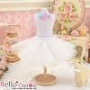 140.【PC-01】Blythe/Pullip Tulle Ball Mini Skirt # White