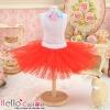 143.【PC-03】Blythe/Pullip Tulle Ball Mini Skirt # Red