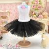 147.【PC-06】Blythe/Pullip Tulle Ball Mini Skirt # Black