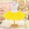 148.【PC-07】Blythe/Pullip Tulle Ball Mini Skirt # Yellow