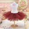 150.【PC-08】Blythe/Pullip Tulle Ball Mini Skirt # Chocolate
