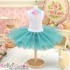 156.【PC-13】Blythe/Pullip Tulle Ball Mini Skirt # Dark Cyan